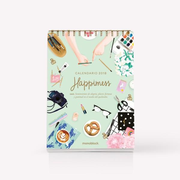 Calendario de escritorio 2018 Happimess