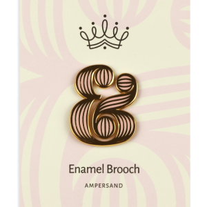 Broche Ampersand Rosa