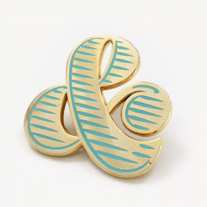 Brooch Ampersand Menta