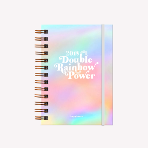 2018 Journal Happimess Pocket Double Rainbow Power