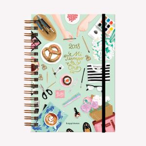 Agenda 2018 Happimess Mi tiempo es Oro