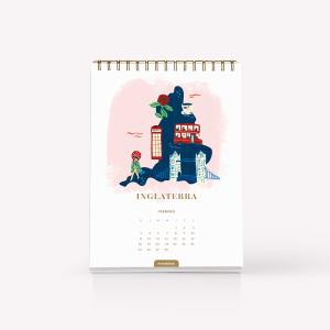 Calendario de Escritorio 2018 Wanderlust - De Viaje