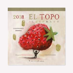 Topo ilustrado 2018 calendario de pared