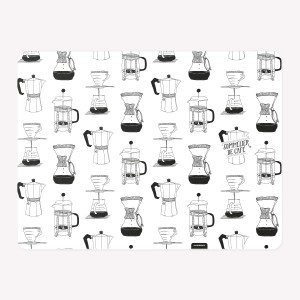 Coffee pots Pattern Placemat