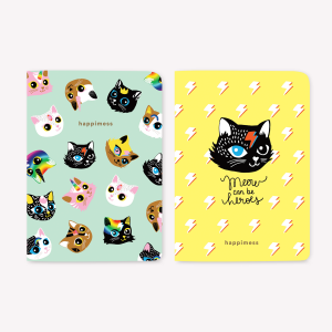 Kitties Pocket Notebook Set x2