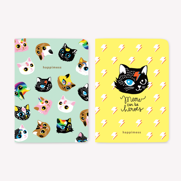 Kitties Pocket Notebook Set x2