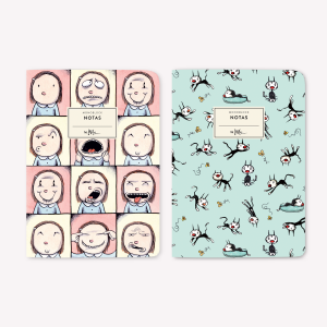 Enriqueta and Fellini Pocket Notebook Set x2
