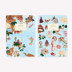 Asia Pocket Notebook Set x2