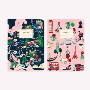 Europa Pocket Notebook Set x2
