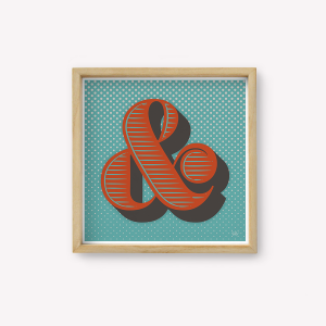 Wall Art Ampersand Menta