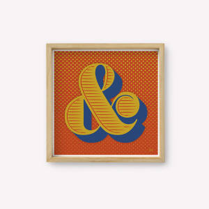 Wall Art Ampersand Rojo