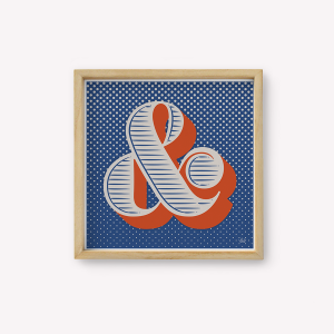 Wall Art Ampersand Azul