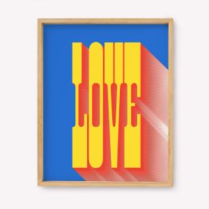 Serigrafía Love