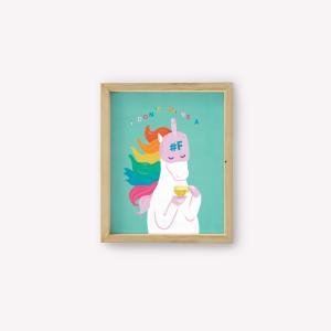 Wall Art Unicornio Fuck You