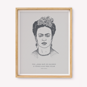 Wings to fly Frida Silk-screen