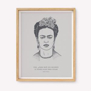 Serigrafía Alas para Volar - Frida