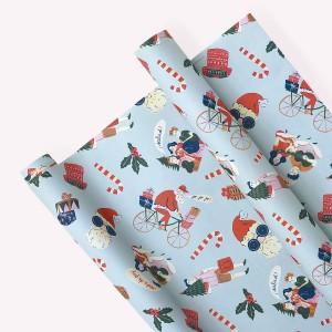 Pack x3 Papel Decorativo Navidad celeste