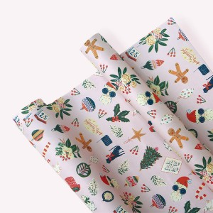 Pink Xmas Wrapping Paper Pack x3