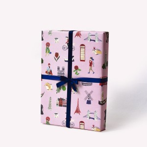 Europe Wrapping Paper Pack x3