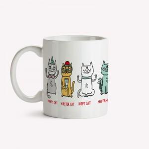 Types of Cats Mug