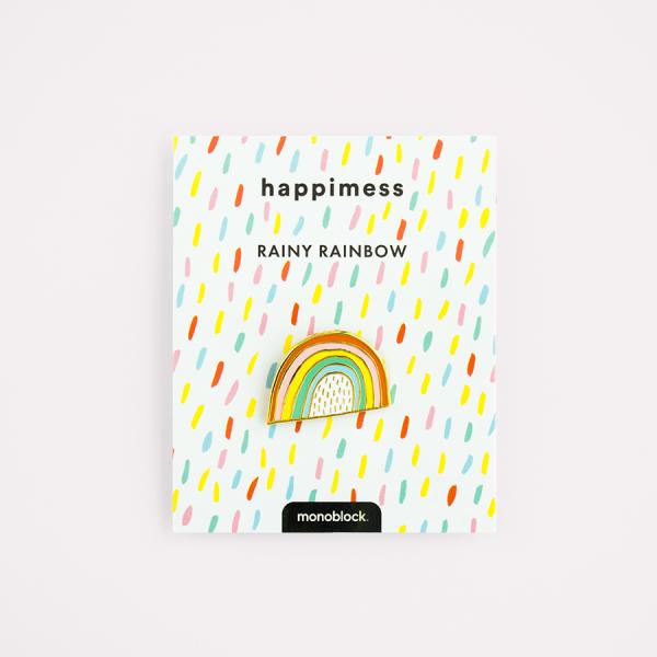 Rainy Rainbow Vintage Hard Badge