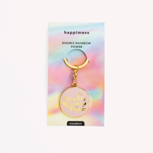 Double Rainbow Power Keychain