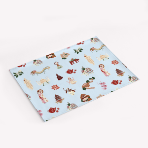 Navidad Durazno PU Leather Placemat