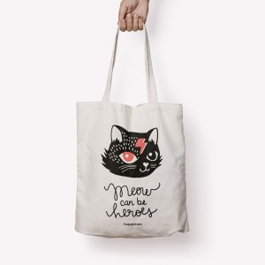 Gato Bowie Totebag