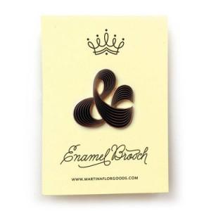 Enamel Brooch Pink Ampersand