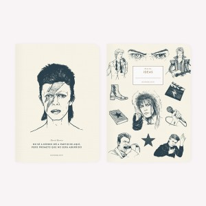 David Bowie Pocket Notebook Set x2