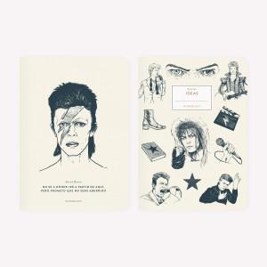 Libretas David Bowie Crudo x2