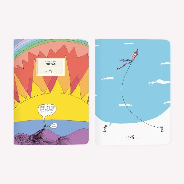 Atardecer Barrilete Pocket Notebook Set x2
