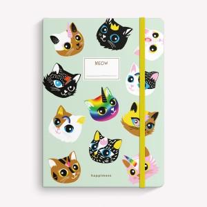 Cuaderno Cosido Mediano Gatitos