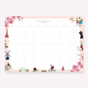 Month Planner Wanderlust
