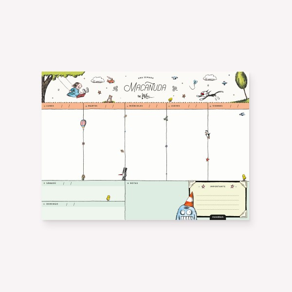 Week Planner Una Semana Macanuda 3