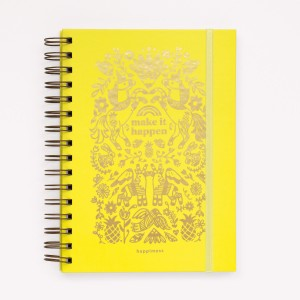 Inspirational Notebook Happimess  Make it Happen