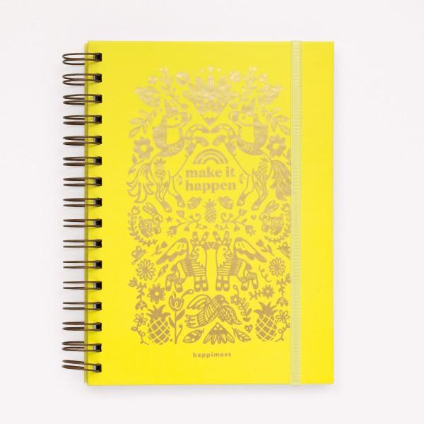 Inspirational Notebook Happimess  Make it Happen