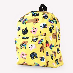 Yellow Kitties Bold Backpack