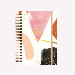 Inspirational Notebook Happimess  Conquer the world