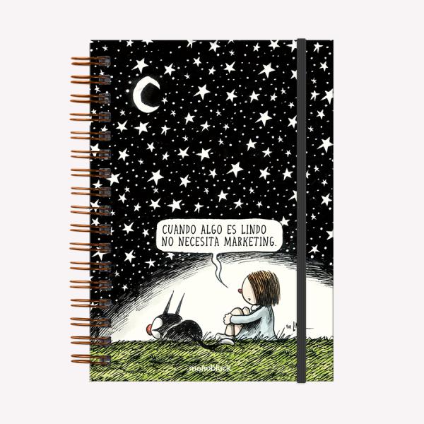 Cuaderno Tapa Dura Noche Estrellada