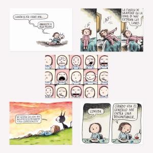 Set x5 Postales de Colección Macanudo