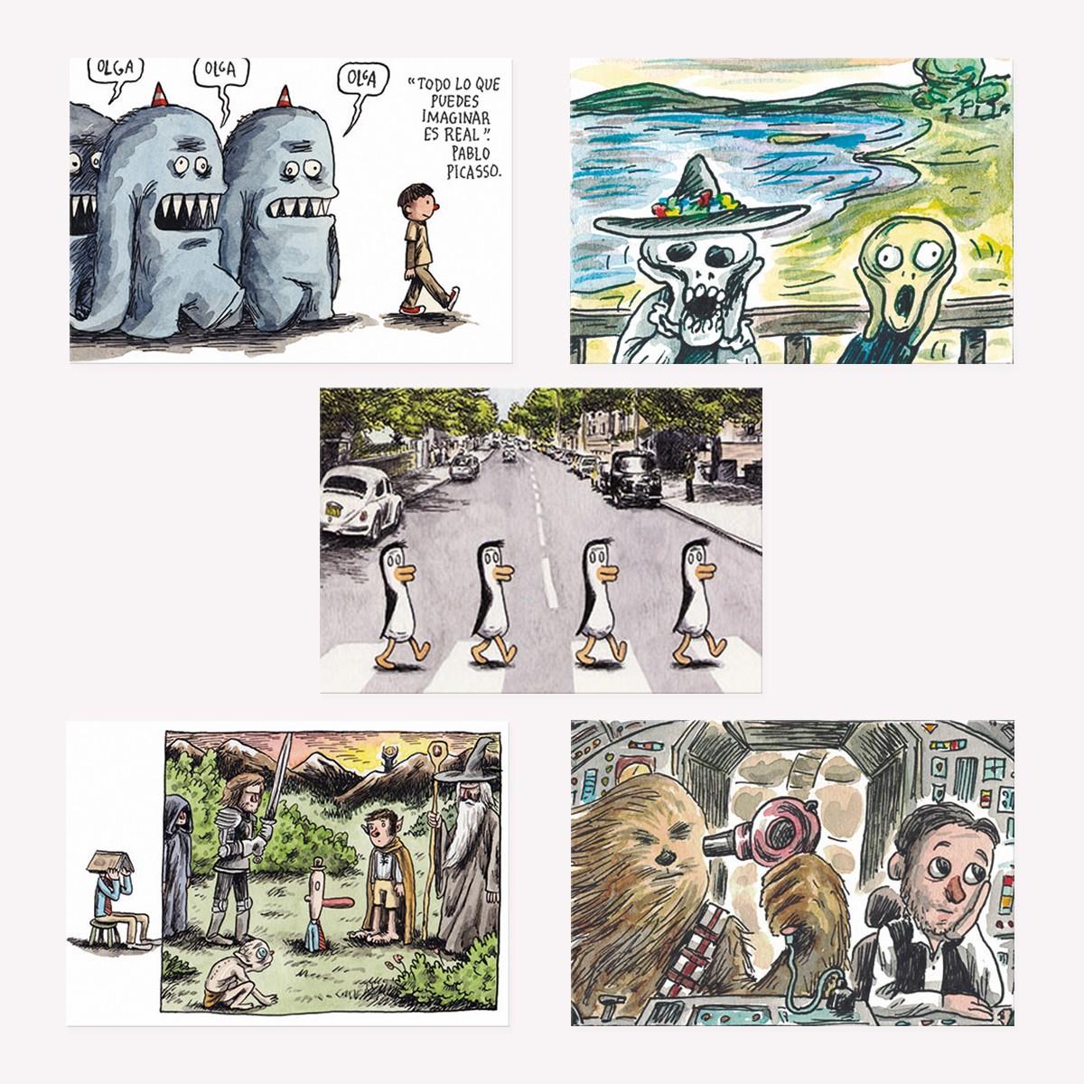 Set x5 Postales de Colección Macanudo 8 - Monoblock