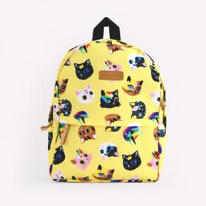 Gatitos Amarillo Medium Backpack