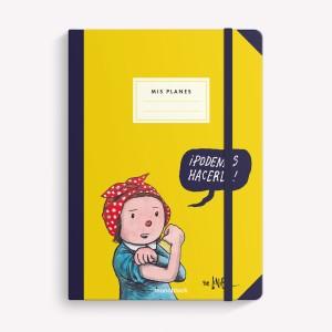 Cuaderno cosido liso 15X21 Podemos Hacerlo