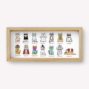 Wall Art Tipos de Gatos