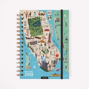Agenda 2019 A5 Semanal De Viaje New York