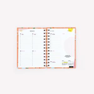 Agenda 2019 A5 Happimes Mi Tiempo es Oro 2 Días por hoja