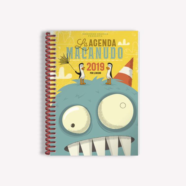 Agenda 2019 Semanal Mediana Macanudo por Liniers Olga Amarilla Anillada