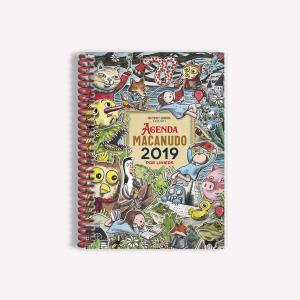 Agenda 2019 Semanal Mediana Macanudo por Liniers Personajes Anillada