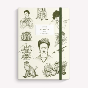 Frida Sewn Medium Notebook